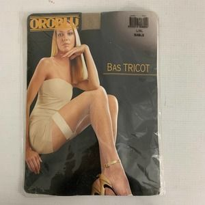Oroblu Fishnet Stockings Thigh Highs Sable